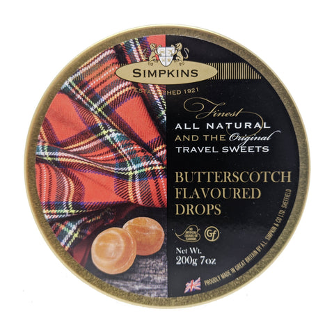 Simpkins Butterscotch Flavoured Drops 200g - Blighty's British Store