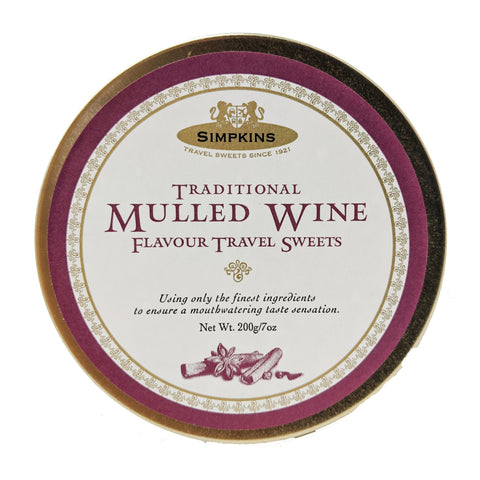 Simpkins Traditional Mulled Wine Travel Sweets 200g - Blighty's British Store