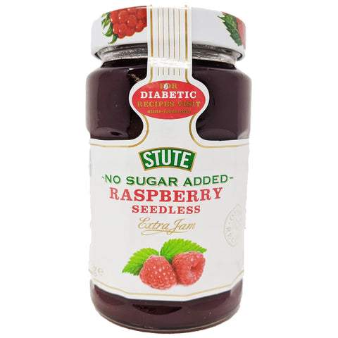 Stute No Sugar Added Raspberry Seedless Jam 430g - Blighty's British Store