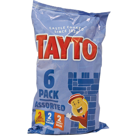 Tayto Assorted 6 Pack (6 x 25g) - Blighty's British Store