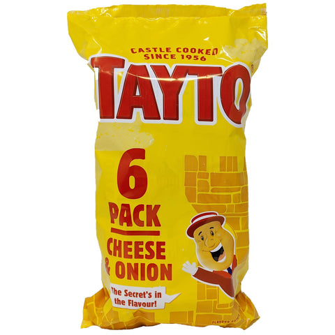 Tayto Cheese & Onion 6 Pack (6 x 25g) - Blighty's British Store