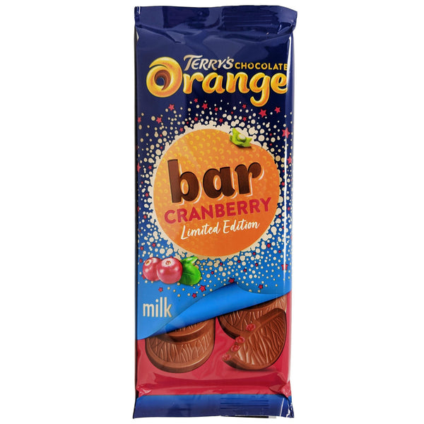 Terry's Chocolate Orange & Cranberry Bar 90g - Blighty's British Store
