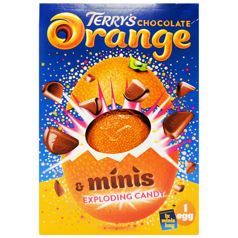 Terry's Chocolate Orange Minis Exploding Candy Easter Egg 250g - Blighty's British Store