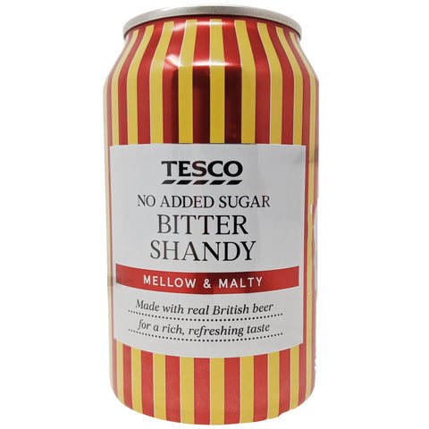 Tesco Bitter Shandy No Added Sugar 330ml - Blighty's British Store