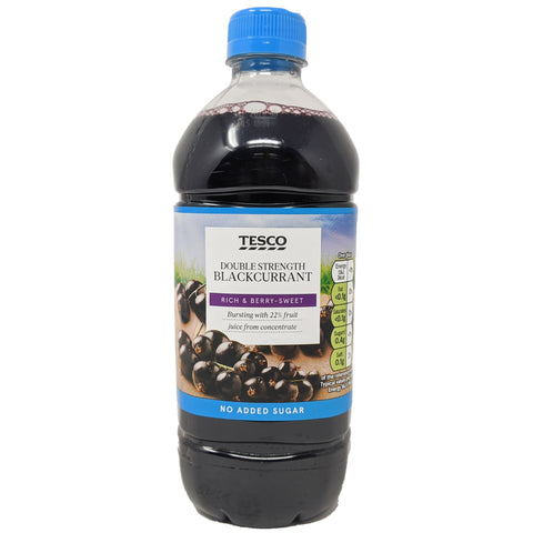 Tesco Double Strength Blackcurrant Squash 750ml - Blighty's British Store