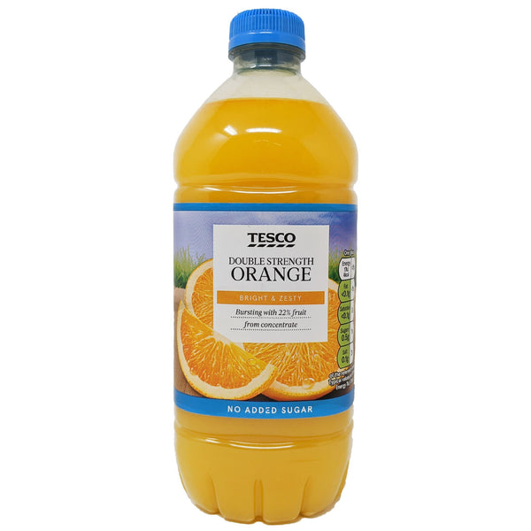 Tesco Double Strength Orange Squash 750ml - Blighty's British Store