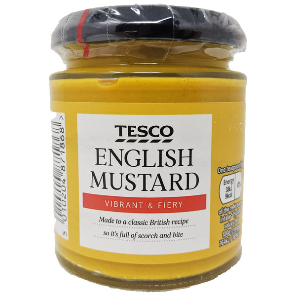 Tesco English Mustard 185ml - Blighty's British Store