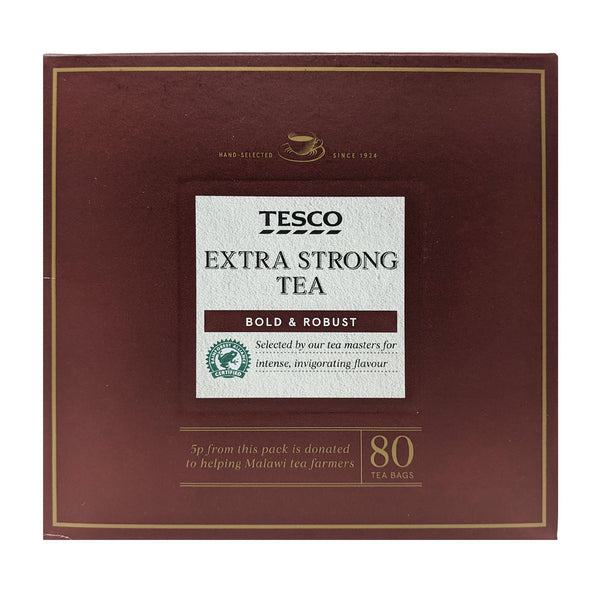 Tesco Extra Strong Tea 80 Tea Bags - Blighty's British Store