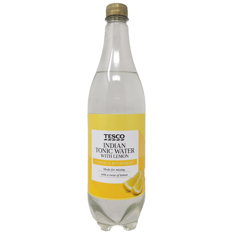 Tesco Indian Tonic Water With Lemon 1L - Blighty's British Store