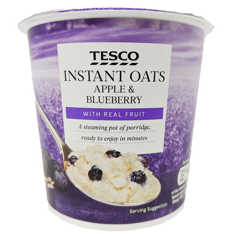 Tesco Instant Oats Apple and Blueberry 55g - Blighty's British Store
