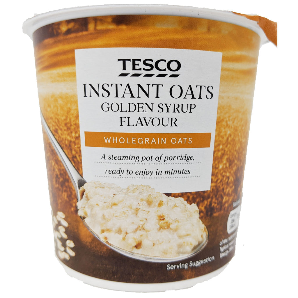 Tesco Instant Oats Golden Syrup 55g - Blighty's British Store