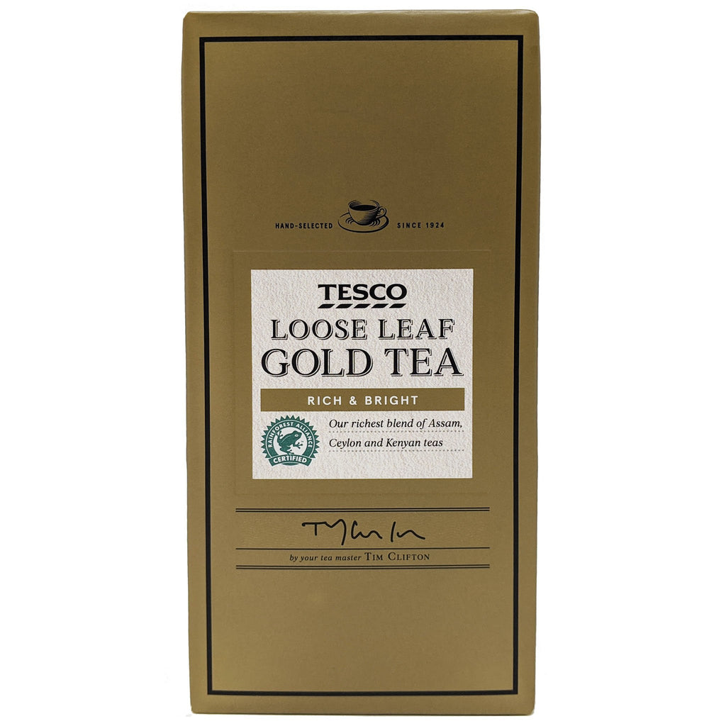 Tesco Loose Leaf Gold Tea 250g - Blighty's British Store