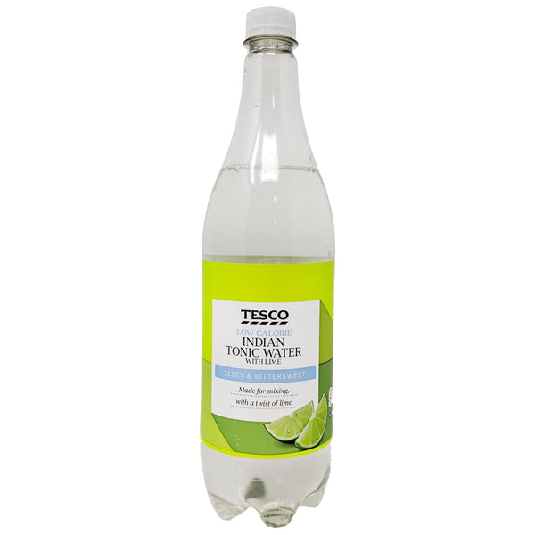 Tesco Low Calorie Indian Tonic Water With Lime 1L - Blighty's British Store