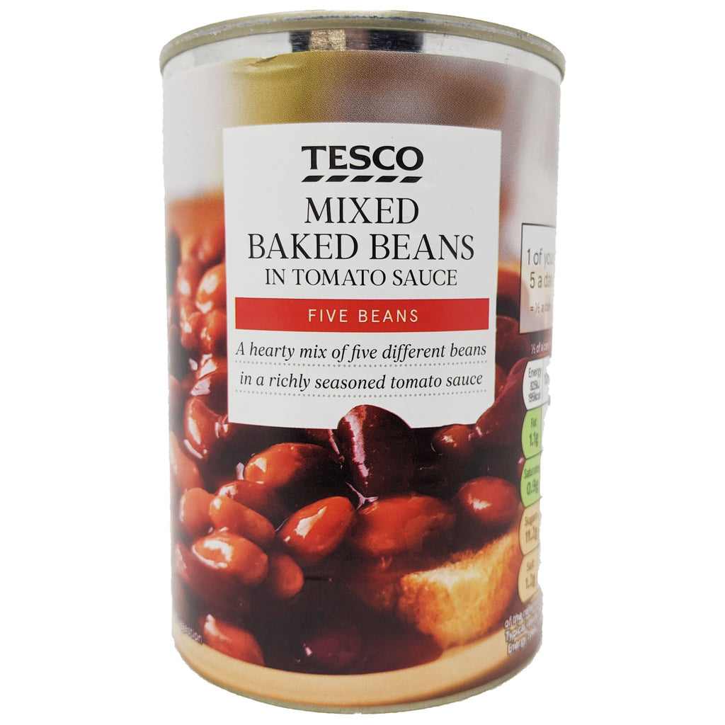 Tesco Mixed Baked Beans 415g - Blighty's British Store