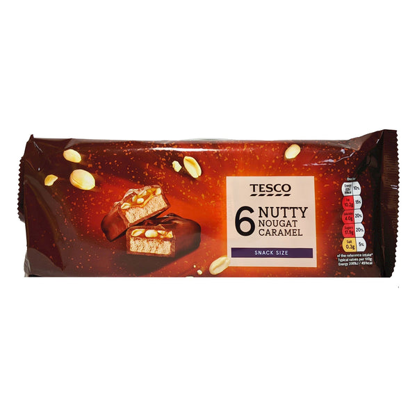 Tesco Nutty Nougat Caramel 6 Pack 240g - Blighty's British Store
