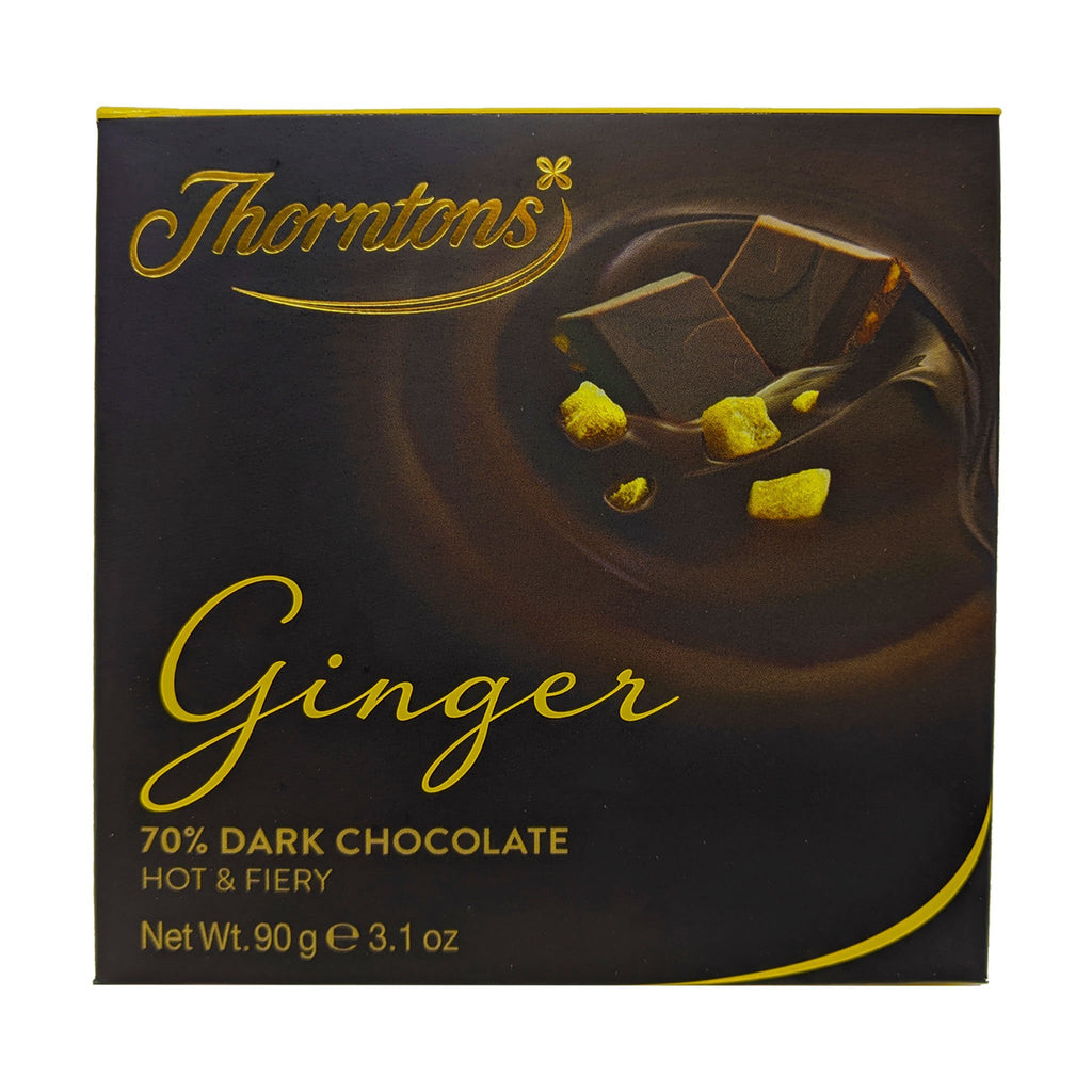 Thornton's 70% Dark Chocolate Ginger 90g - Blighty's British Store