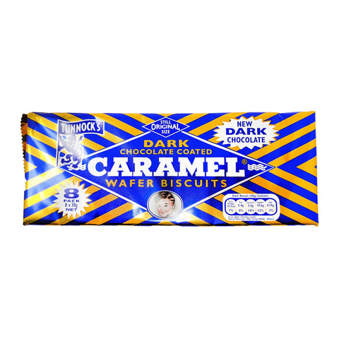 Tunnock's Dark Chocolate Caramel Wafer Biscuits 8 Pack (8 x 30g) - Blighty's British Store