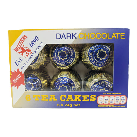 Tunnock's Tea Cakes Dark Chocolate (6 x 24g) - Blighty's British Store