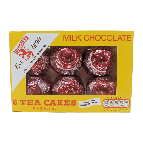 Tunnock's Tea Cakes Milk Chocolate (6 x 24g) - Blighty's British Store