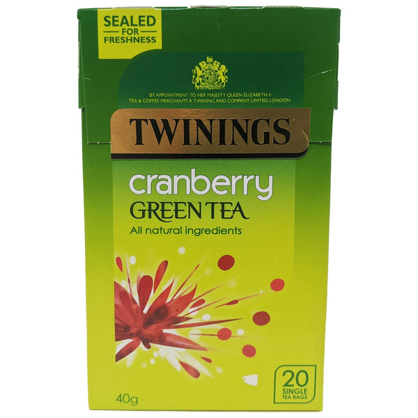 Twinings Cranberry Green Tea 20 Bags - Blighty's British Store