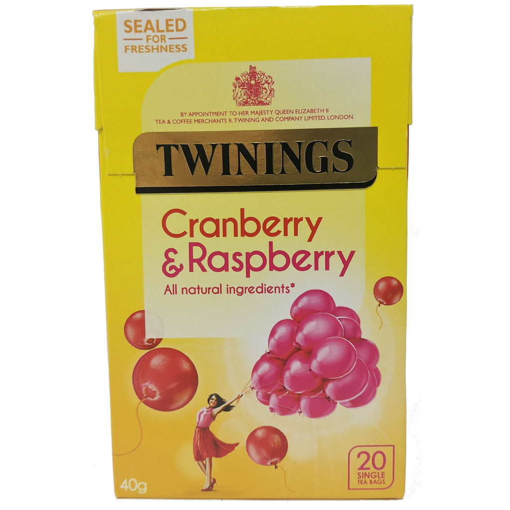 Twinings Cranberry & Raspberry Tea 20 Bags - Blighty's British Store