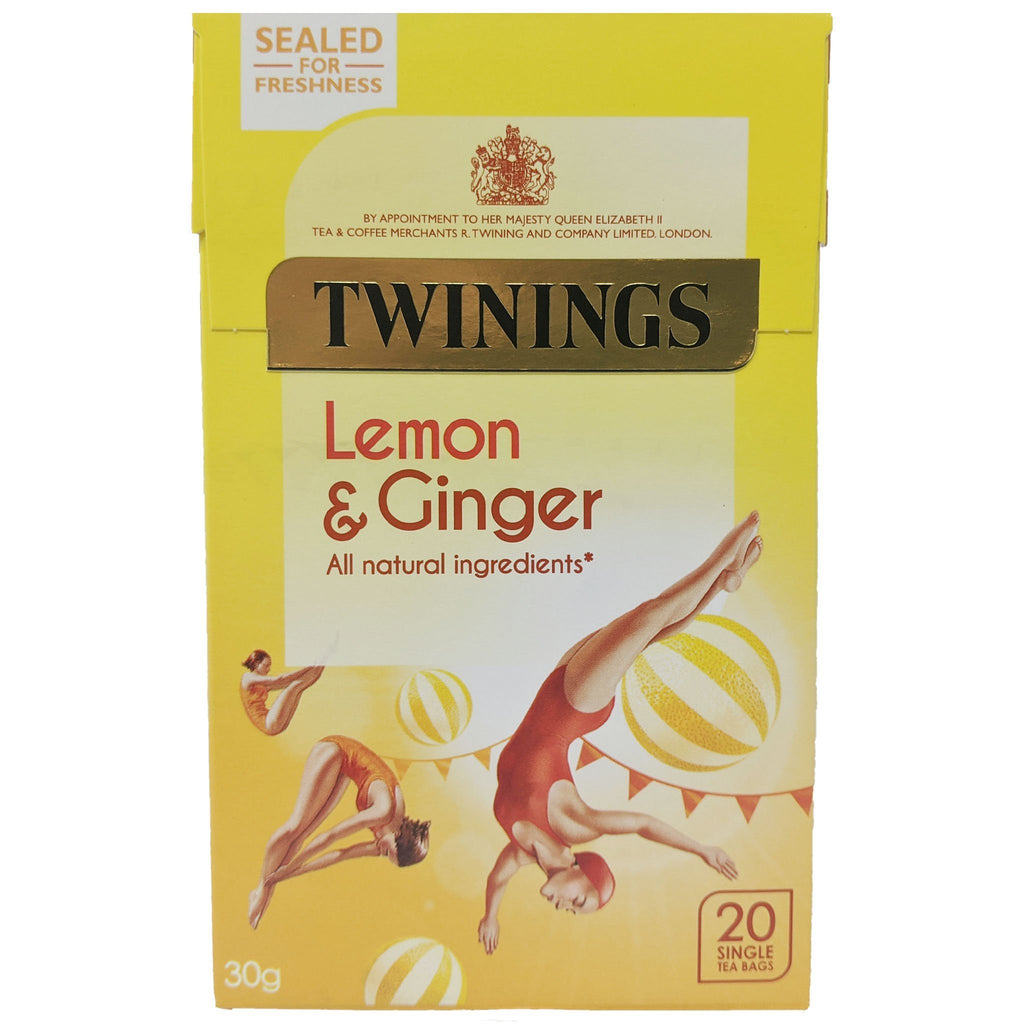 Twinings Lemon & Ginger Tea 20 Bags - Blighty's British Store