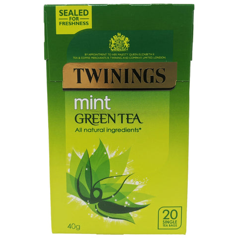 Twinings Mint Green Tea 20 Bags - Blighty's British Store