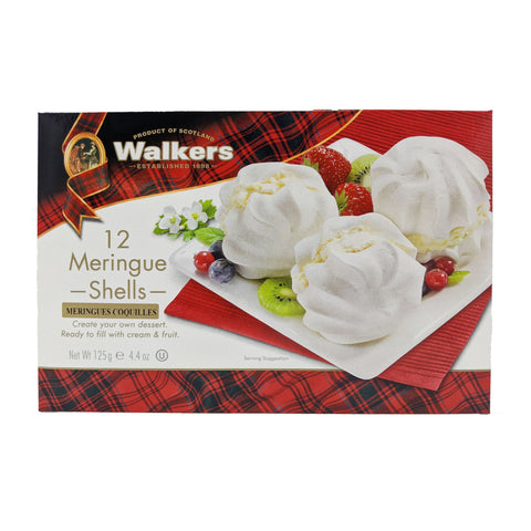 Walker's 12 Meringue Shells 125g - Blighty's British Store