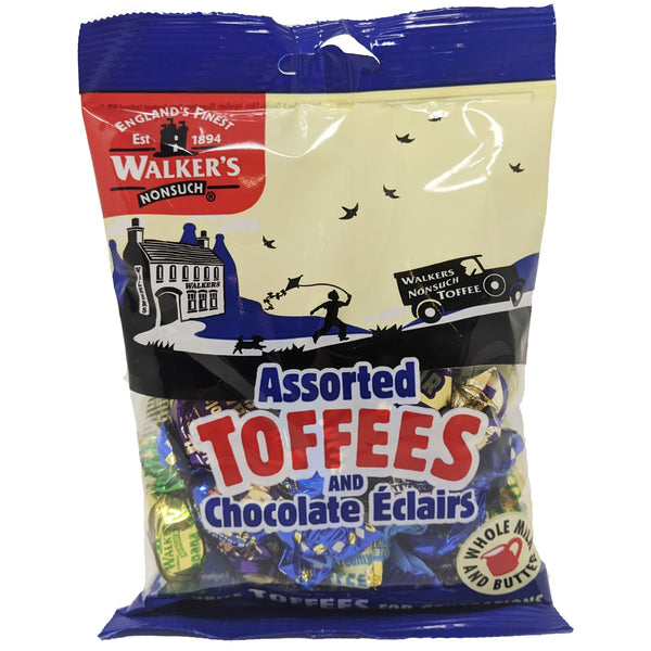 Walker's Assorted Toffees & Chocolate Eclairs 150g - Blighty's British Store