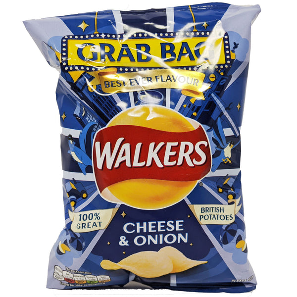 Walker's Cheese & Onion Grab Bag 50g - Blighty's British Store