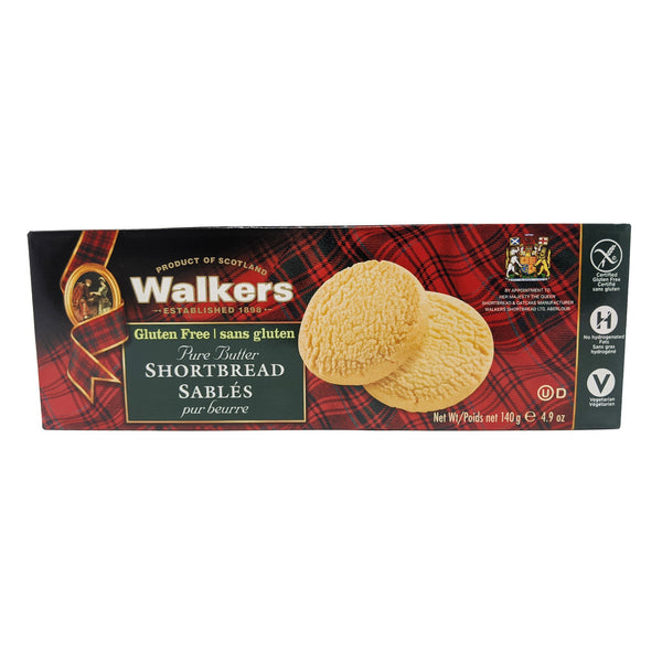 Walker's Gluten Free Pure Butter Shortbread 140g - Blighty's British Store