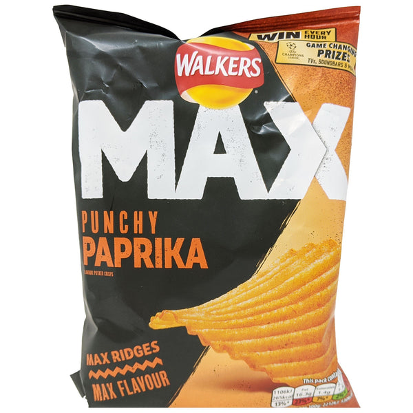 Walker's Max Punchy Paprika 50g - Blighty's British Store