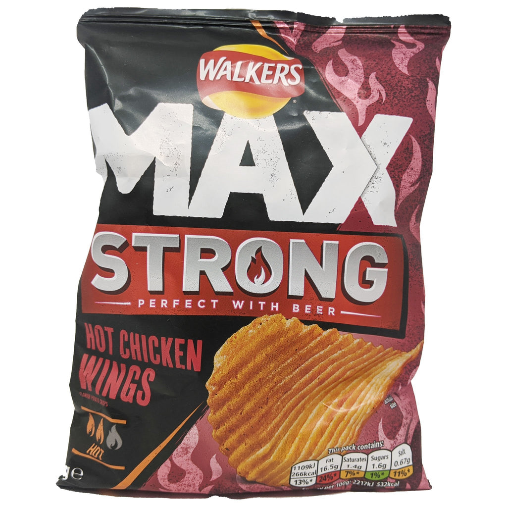 Walker's Max Strong Hot Chicken Wings 50g - Blighty's British Store