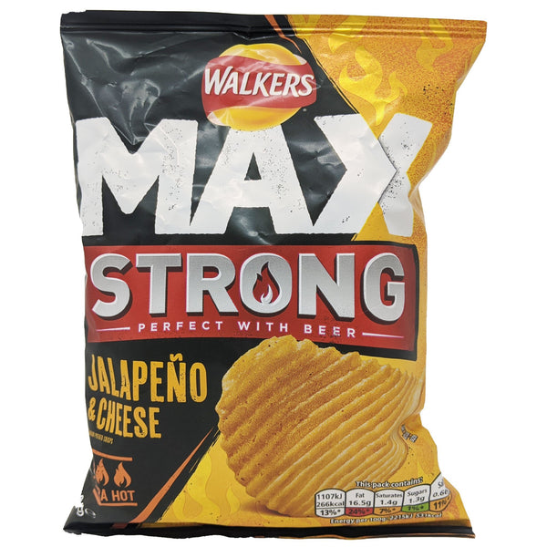Walker's Max Strong Jalapeno & Cheese 50g - Blighty's British Store