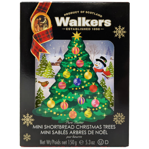 Walkers Mini Shortbread Christmas Trees 150g - Blighty's British Store
