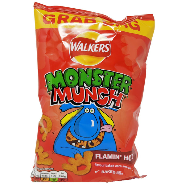 Walker's Monster Munch Flamin' Hot Grab Bag 40g - Blighty's British Store