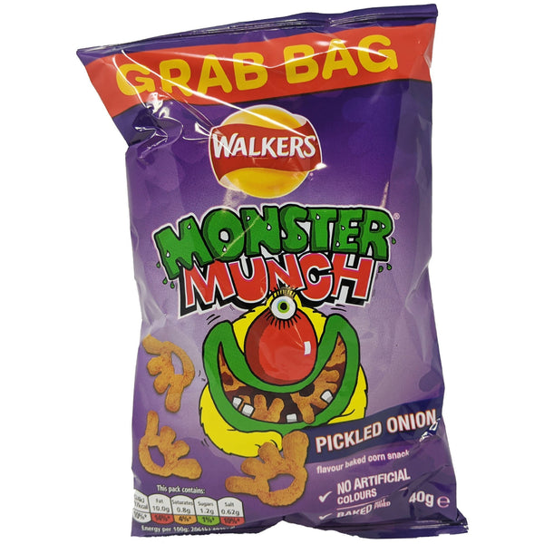 Walker's Monster Munch Pickled Onion Grab Bag 40g - Blighty's British Store