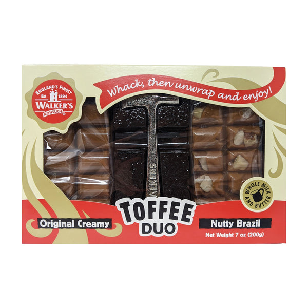 Walker's Nonsuch Toffee Duo Original Creamy & Nutty Brazil 200g - Blighty's British Store
