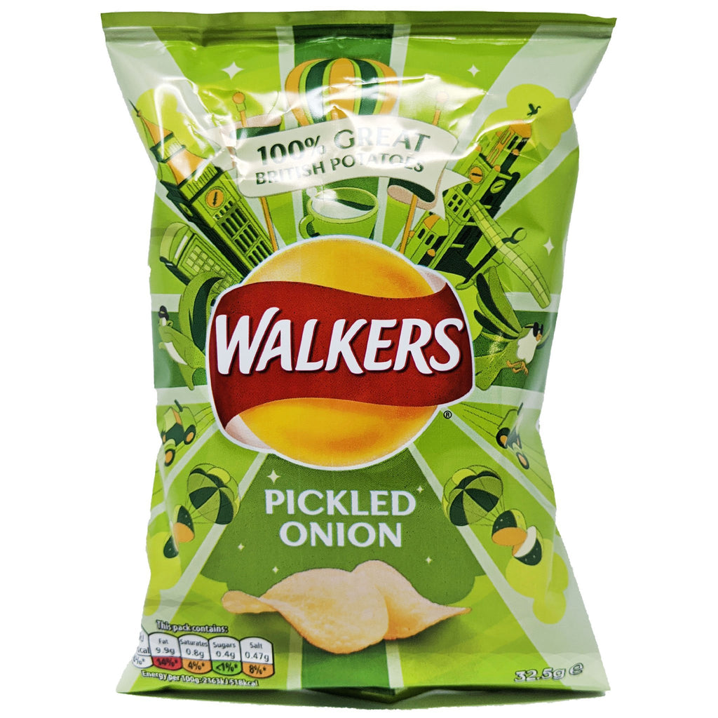 Walker's Pickled Onion 32.5g - Blighty's British Store