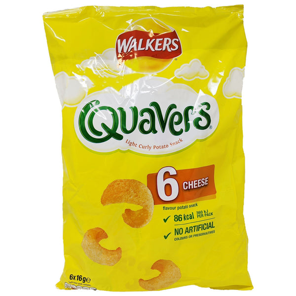 Walker's Quavers Cheese 6 Pack (6 x 16g) - Blighty's British Store