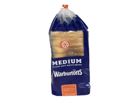 Warburtons Medium Sliced White Bread - Blighty's British Store
