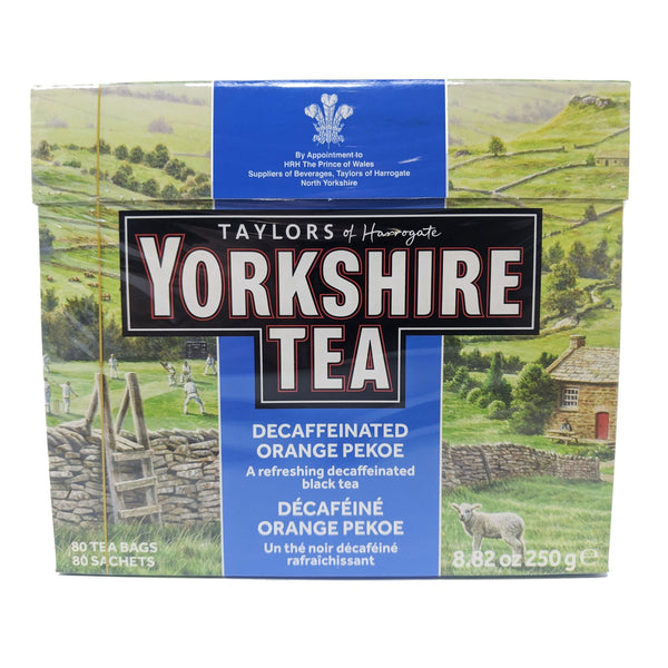 Yorkshire Tea Decaf Orange Pekoe 80 Tea Bags - Blighty's British Store