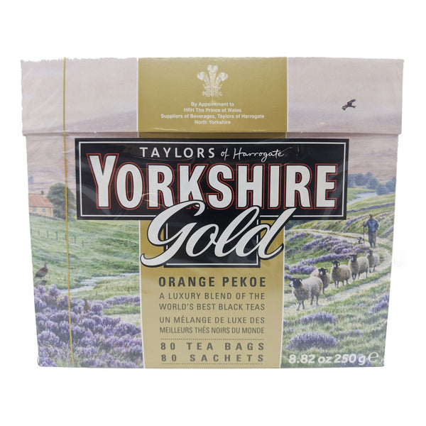 Yorkshire Tea Gold Orange Pekoe 80 Tea Bags - Blighty's British Store