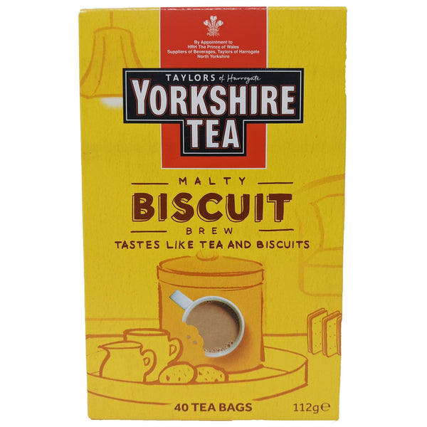 Yorkshire Tea Malty Biscuit Brew 40 Bags - Blighty's British Store