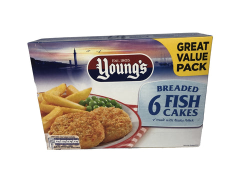 Young's 6 Breaded Fish Cakes - Blighty's British Store