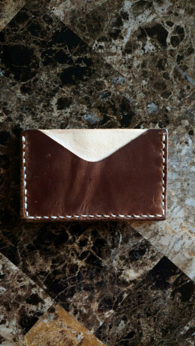 Horizontal Card Wallet - Two Tone
