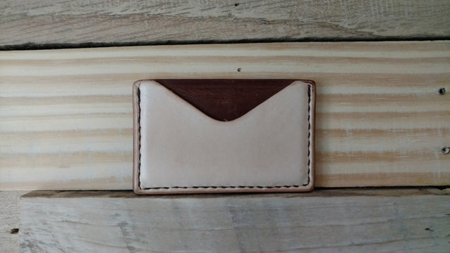 Horizontal Card Wallet - Veg Tanned Two Tone