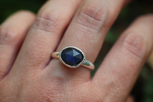 Sterling silver labradorite ring US 9