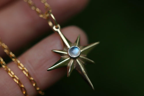 Made to order mixed metal northern star necklace