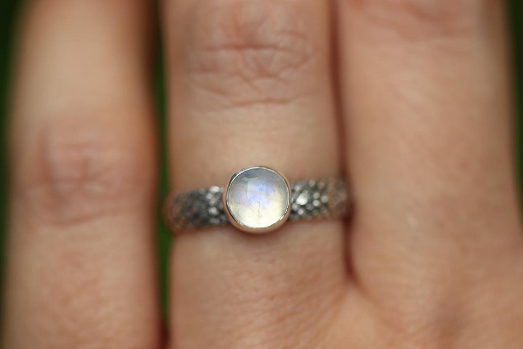 rainbow moonstone ring US 6